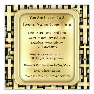 Cruces de oro invitacion personal