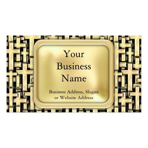 Cruces de oro tarjetas de negocios