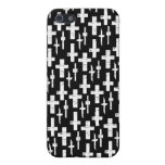 Cruces en negro iPhone 5 protector
