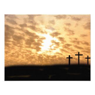 Cruces en una invitación del personalizable de la