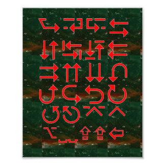 Cruces OpenMind de los cerebros de las direcciones Arte Fotográfico