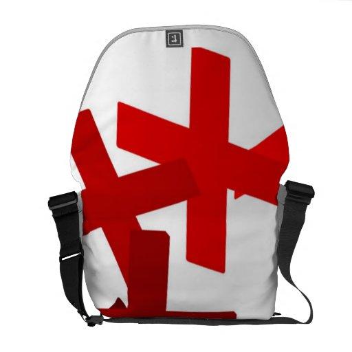 Cruces rojos bolsas messenger