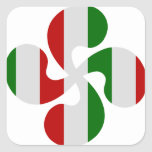 Cruces Vasco Multicolores Pegatinas Cuadradas Personalizadas