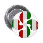 Cruces Vasco Multicolores Pin Redondo 5 Cm
