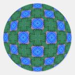 Cruces verdes pegatinas redondas