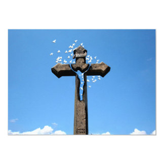 """Cruces y escenas de Domingo de Pascua y de Ramos Invitación 5"""" X 7"""""""