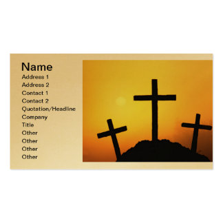 Cruces y escenas de Domingo de Pascua y de Ramos Plantillas De Tarjetas De Visita