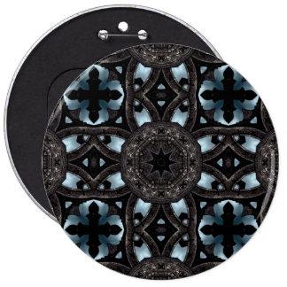 Cruces y medallones medievales góticos pin redondo de 6 pulgadas