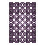 Cruces y papel púrpura del arte de los cuadrados papeleria de diseño