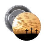 Cruces y Pin de Pascua de la puesta del sol