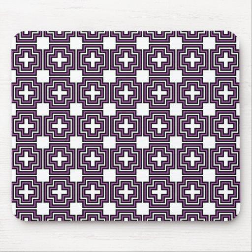 Cruces y púrpura de los cuadrados - Mousepad Alfombrillas De Raton
