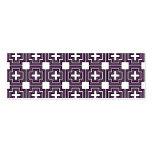 Cruces y púrpura de los cuadrados - señal tarjeta de visita