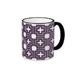 Cruces y púrpura de los cuadrados - taza