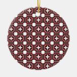 Cruces y rojo de los cuadrados - ornamento adornos