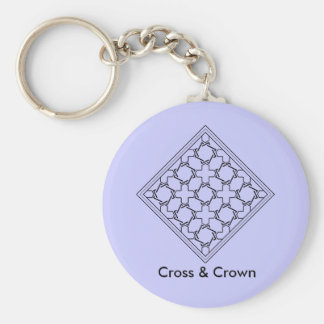 cruces y tessellation 2 de las coronas llavero redondo tipo pin