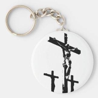 Crucfixion Basic Round Button Keychain
