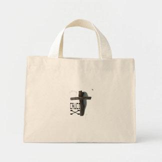 cruci_X_striped_tote Mini Tote Bag