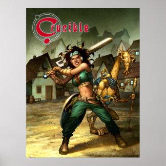 Crucible art by Bernard Kolle Poster