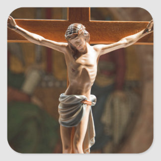 Crucification Square Sticker