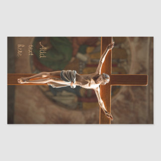 Crucification Rectangular Sticker