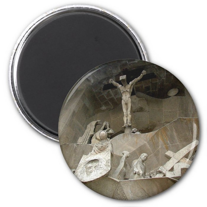 Crucifiction 2 Inch Round Magnet