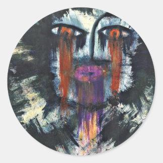 Crucifiction of God. Classic Round Sticker