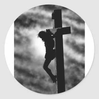 Crucified Classic Round Sticker