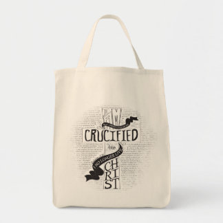 Crucified With Christ Grocery Tote
