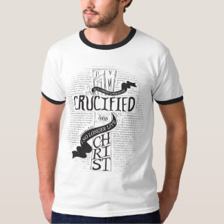 Crucified with Christ - Mens Black/White T-Shirt