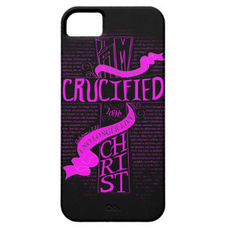 Crucified With Christ - Phone Case - Pink/Black