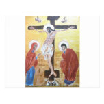 crucifijo del icono 2 postales