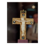 Crucifijo del relicario, Cristo de marfil en cruz  Poster