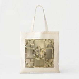 Crucifijo grabado en relieve bolsa