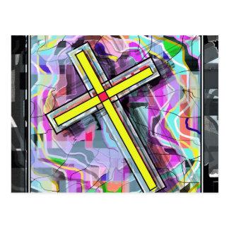 Crucifijo Marbleized Postales