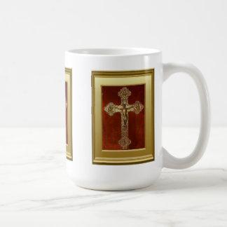 Crucifijo medieval taza clásica