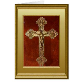 Crucifijo Tarjeta De Felicitación