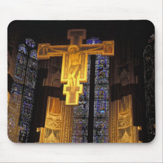 Crucifix above the High altar in the Santa Mouse Pad