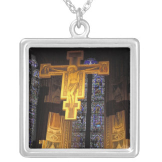 Crucifix above the High altar in the Santa Square Pendant Necklace