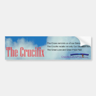 Crucifix bmp 1a bumper sticker
