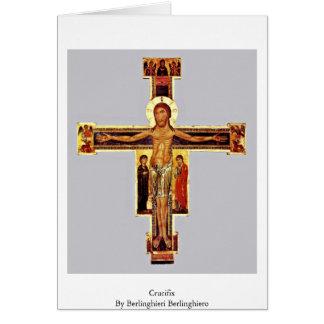 Crucifix By Berlinghieri Berlinghiero Greeting Cards