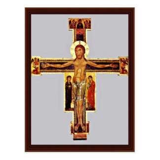 Crucifix By Berlinghieri Berlinghiero Postcard