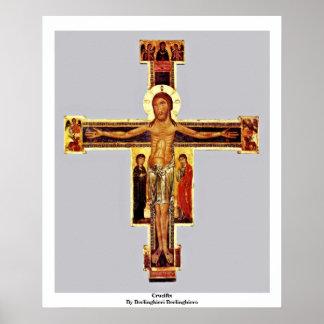 Crucifix By Berlinghieri Berlinghiero Poster