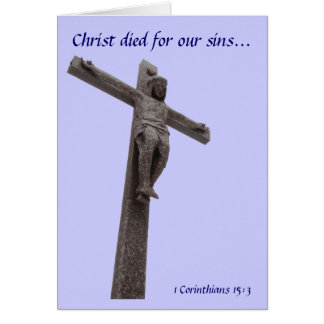 Crucifix Christ Died For Our Sins V Card