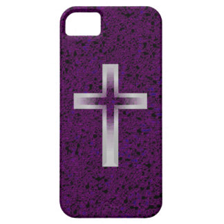 Crucifix cross purple iphone 5 barely case iPhone 5 cases