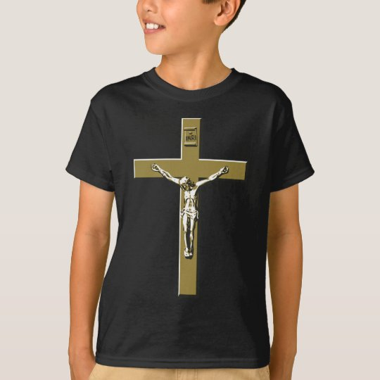 Crucifix in Bronze T-Shirt