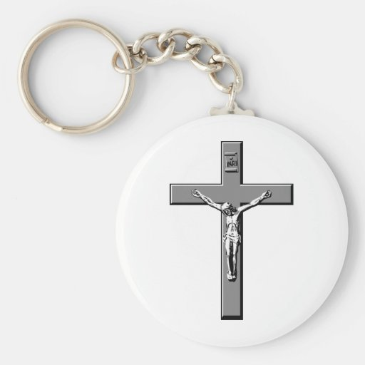 Crucifix in Silver Key Chains