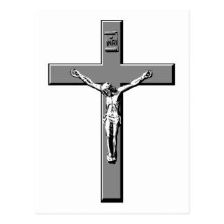 Crucifix in Silver Postcard