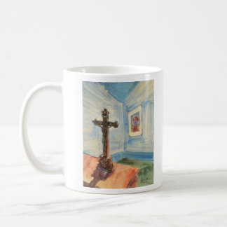 Crucifix in the room by Walter Gramatte Mug
