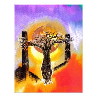 Crucifix. Letterhead