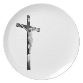 Crucifix. Melamine Plate